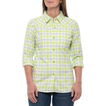 Stio Dovetail Flannel Shirt - Long Sleeve (For Women) in Luminary Green Plaid - Closeouts