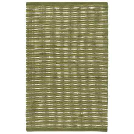 Stitch & Shuttle Chindi Accent Rug - 2x3' in Dots Green - Closeouts