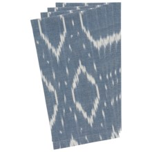 Stitch & Shuttle Cotton Napkins - Set of 4 in Lapis Ikat - Closeouts