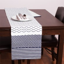 Stitch & Shuttle Printed Table Runner in Element - Closeouts