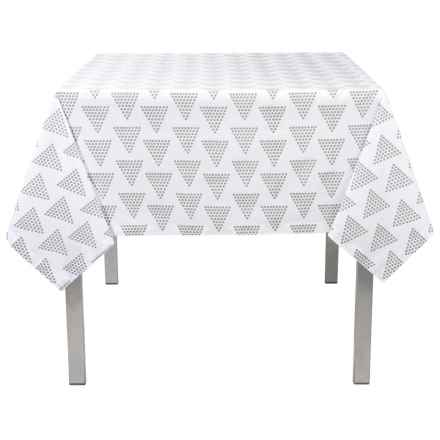 "Stitch & Shuttle Pyramid Tablecloth - 60x90"" in Gray - Closeouts"