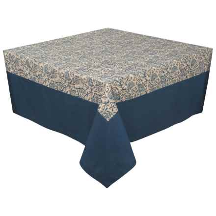"Stitch & Shuttle River Linen Tablecloth - 55x55"" in Indigo - Closeouts"