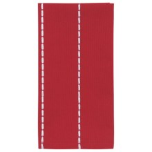 Stitch & Shuttle Stitchwork Napkins - Set of 4 in Scarlet - Closeouts