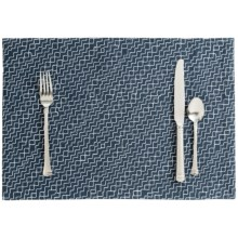 Stitch & Shuttle Stitchwork Placemat in Indigo - Closeouts