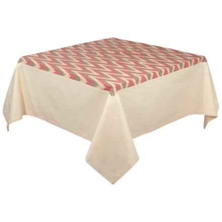 "Stitch & Shuttle Tradewinds Ikat Tablecloth - 60x108"" in See Photo - Closeouts"