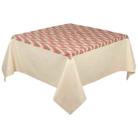 "Stitch & Shuttle Tradewinds Ikat Tablecloth - 60x90"" in See Photo - Closeouts"