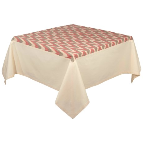 """Stitch & Shuttle Tradewinds Ikat Tablecloth - 60x90"""" in See Photo"""