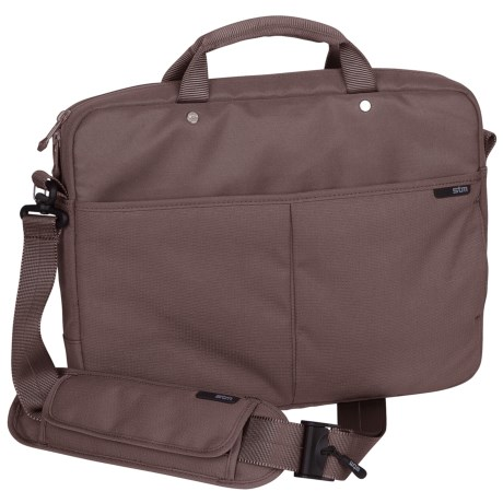 STM Slim Shoulder Laptop Bag - Medium in Mushroom