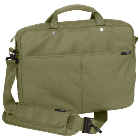 STM Slim Shoulder Laptop Bag - Small in Sage