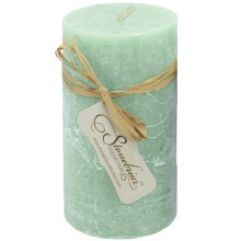 """Stonebriar Collection Textured Pillar Candle - 6x3"""" in Celadon - Closeouts"""