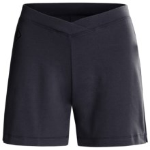 Stonewear Designs Aerobic Stretch Shorts (For Women) in Navy - Closeouts