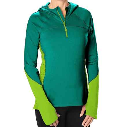 Stonewear Designs Alpha Fleece Hoodie (For Women) in Vine/Celery - Closeouts