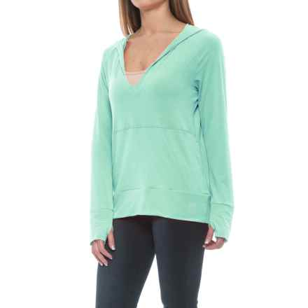 Stonewear Designs Breeze Hooded Shirt - Long Sleeve (For Women) in Aqua - Closeouts