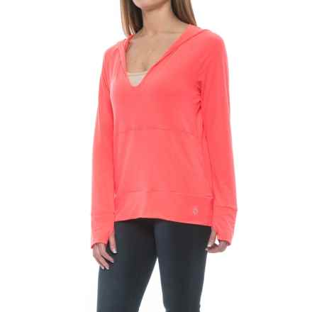Stonewear Designs Breeze Hooded Shirt - Long Sleeve (For Women) in Hot Melon - Closeouts