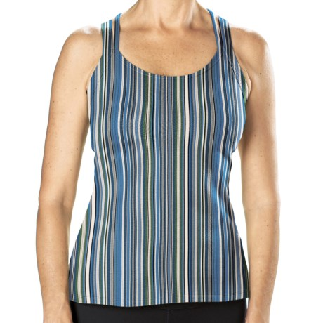 Stonewear Designs Double Cross Dryflex Tank Top - Built-In Shelf Bra (For Women) in Cool Stripe