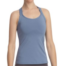 Stonewear Designs Double Cross Dryflex Tank Top - Built-In Shelf Bra (For Women) in Stream - Closeouts