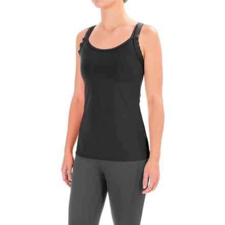 Stonewear Designs Double-Cross Tank Top - Built-In Shelf Bra (For Women) in Black - Closeouts
