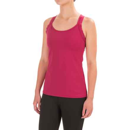 Stonewear Designs Double-Cross Tank Top - Built-In Shelf Bra (For Women) in Jelly - Closeouts