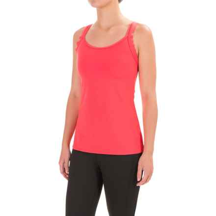 Stonewear Designs Double-Cross Tank Top - Built-In Shelf Bra (For Women) in Sunrise - Closeouts