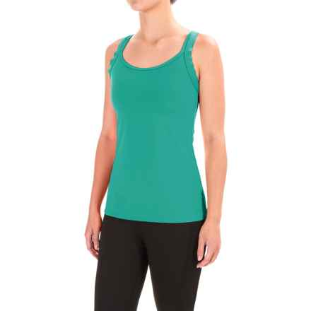 Stonewear Designs Double-Cross Tank Top - Built-In Shelf Bra (For Women) in Vine - Closeouts