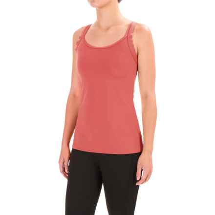 Stonewear Designs Double-Cross Tank Top - Built-In Shelf Bra (For Women) in Watermelon - Closeouts