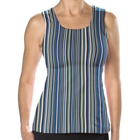 Stonewear Designs Electra Tank Top - Built-In Shelf Bra (For Women) in Cool Stripe