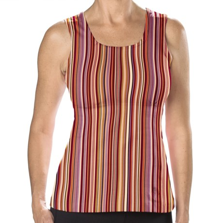 Stonewear Designs Electra Tank Top - Built-In Shelf Bra (For Women) in Hot Stripe