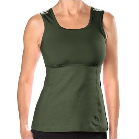 Stonewear Designs Electra Tank Top - Built-In Shelf Bra (For Women) in Kale