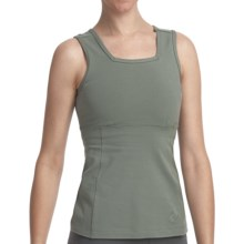 Stonewear Designs Electra Tank Top - Organic Cotton, Built-In Shelf Bra (For Women) in Gecko - Closeouts