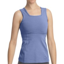 Stonewear Designs Electra Tank Top - Organic Cotton, Built-In Shelf Bra (For Women) in Stream - Closeouts