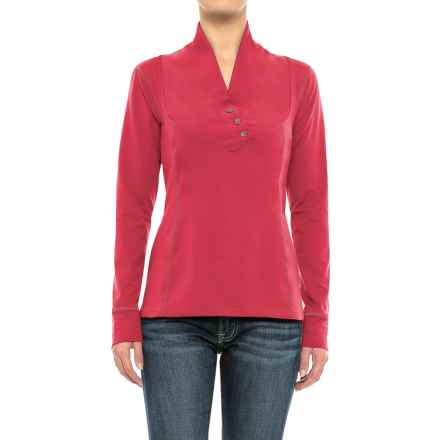 Stonewear Designs Exhale Shirt - Button Neck, Long Sleeve (For Women) in Sunrise - Closeouts