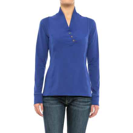 Stonewear Designs Exhale Shirt - Button Neck, Long Sleeve (For Women) in Twilight - Closeouts