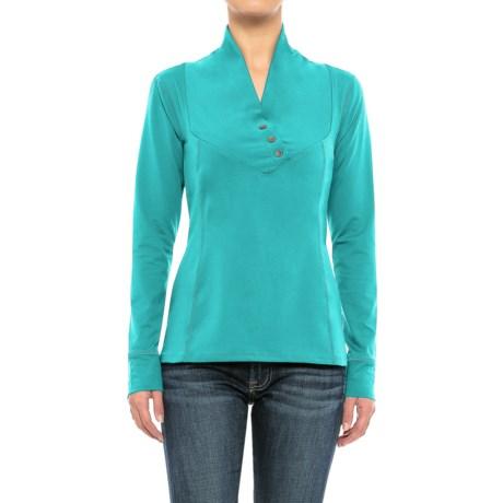 Stonewear Designs Exhale Shirt - Button Neck, Long Sleeve (For Women)
