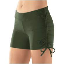 Stonewear Designs Hot Yoga Shorts - Side Ties (For Women) in Kale - Closeouts