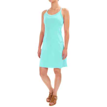 Stonewear Designs Ladderback Dress - Built-in Bra, Sleeveless (For Women) in Aqua - Closeouts