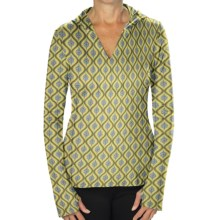 Stonewear Designs Lola Hoodie Pullover (For Women) in 915 Feathers Kale Print - Closeouts