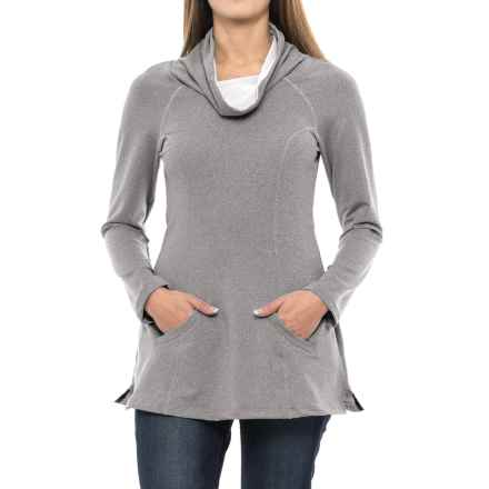Stonewear Designs Maha Tunic Shirt - Long Sleeve (For Women) in Stone Heather - Closeouts