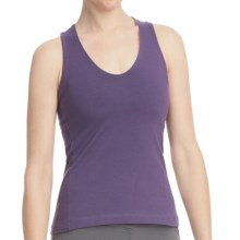 Stonewear Designs Momentum Tank Top - Organic Cotton, Built-in Shelf Bra, Crisscross Back (For Women) in Concord - Closeouts