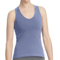 Stonewear Designs Momentum Tank Top - Organic Cotton, Built-in Shelf Bra, Crisscross Back (For Women) in Mellow