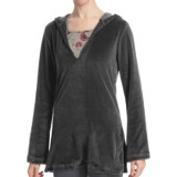 Stonewear Designs Nimble Caftan Hooded Shirt - V-Neck, Long Sleeve (For Women)