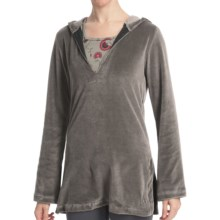 Stonewear Designs Nimble Caftan Hoodie Shirt - V-Neck, Long Sleeve (For Women) in Pine - Closeouts