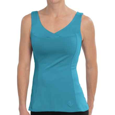 Stonewear Designs Olympia Tank Top - Built-In Bra, V-Neck (For Women) in Caribe - Closeouts