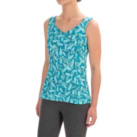 Stonewear Designs Olympia Tank Top - Built-In Bra, V-Neck (For Women) in Pisces - Closeouts