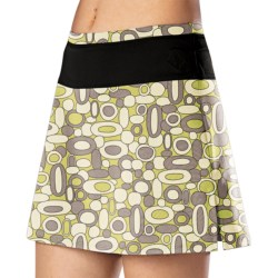 Stonewear Designs Skipper Skort - Built-In Shorts (For Women) in River Rocks Chartreuse