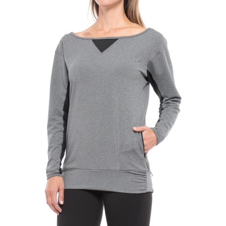 Stonewear Designs Synergy Shirt - Long Sleeve (For Women) in Stone/Black