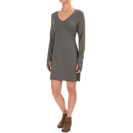 Stonewear Designs Veronica Dress - Long Sleeve (For Women) in Granite Stripe - Closeouts
