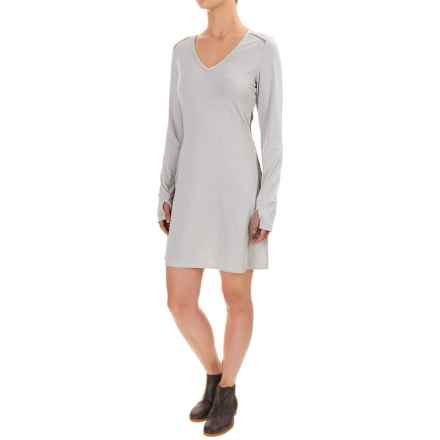 Stonewear Designs Veronica Dress - Long Sleeve (For Women) in Snow Stripe - Closeouts