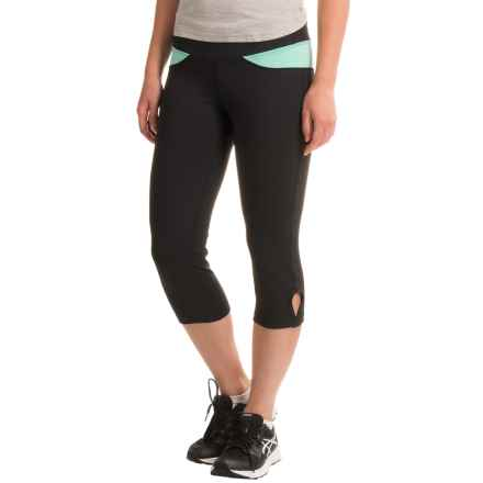 Stonewear Designs Volt Capris (For Women) in Black/Aqua - Closeouts