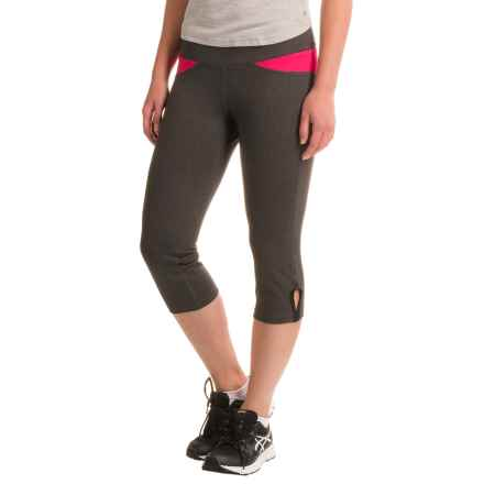 Stonewear Designs Volt Capris (For Women) in Heather Gray/Barberry - Closeouts
