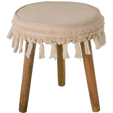 Image of Stool with Tassels - 16x18?